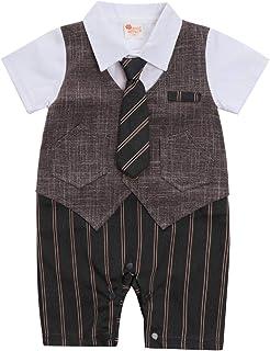 c29153a0731cf cool elves - Vêtements Suite Romper Bébés Garçons 3 PCs Bavette T-Shirt  Noeud/