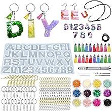 Uni-Fine Shop 373 stuks alfabet hars gietvorm achteruit epoxyhars vormen letters hars gietvorm kit DIY hars siliconen vorm...