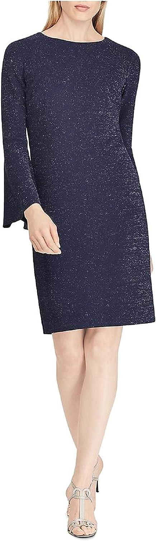 Lauren by Ralph Lauren Women's Petite Metallic Ponte Dress