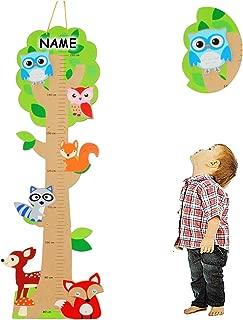 75 cm KMS053 Holz MDF Kreative Feder Weltall Deko Messlatte f/ürs Kinderzimmer mit Namen personalisiert Baby /& Kinder-Deko