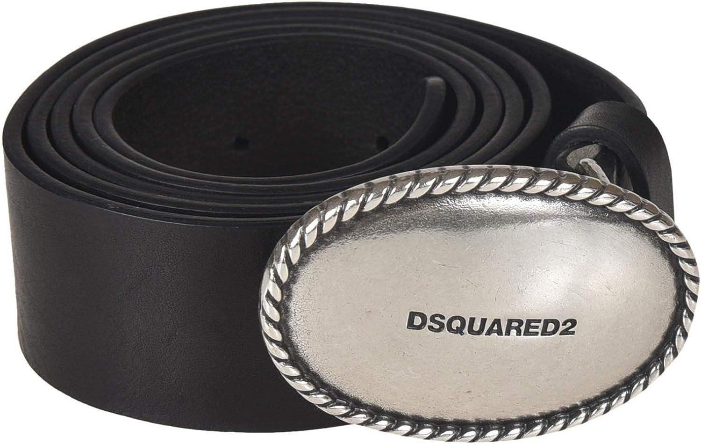 Dsquared2 Women's BEW001011300001M1074 Black Leather Belt