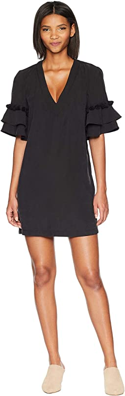 Tassel-Trimmed Shift Dress