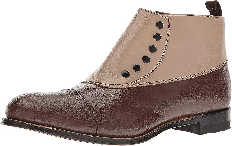 Stacy Adams Men's Madison Cap Toe Spat Boot