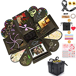 Creative Explosion Gift Box, Love Memory DIY Photo Album Scrapbooking Gift Box for Birthday Party, Valentine's Day, Mother's Day & Wedding