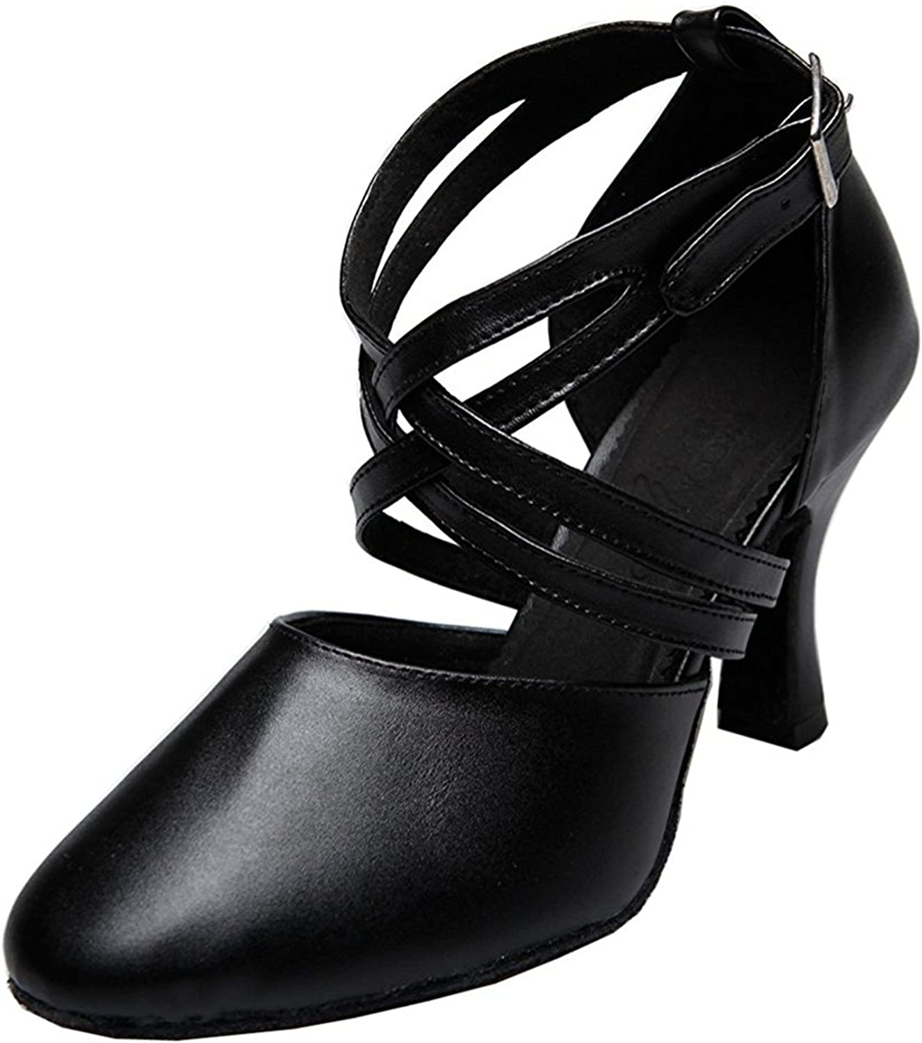 Also Easy Stylish Womens Ankle Strap Leather Salsa Tango Ballroom Latin Party Wedding Dance Pumps Unique Style