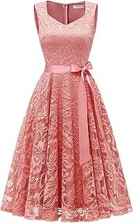 Elegant Lace Bridesmaid Dresses Sleeveless V Neck Formal Dresses Cocktail Dresses for Women