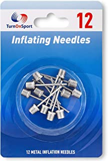 TurnOnSport Basketball Pump Needle - Ball Pump Inflation Needles Pack 12 - Inflate Pump Needle for Balls - Pump Needle Adaptor Soccer Rugby Football Volleyball Ball - Inflatable Air Pump Needle