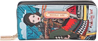 Printed Double Zipper Wallet With RFID Blocking