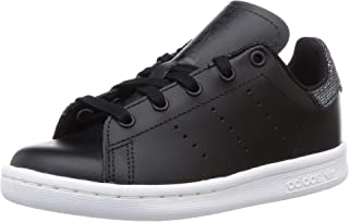 Adidas Unisex Kid's Stan Smith C Cblack/Ftwwht Leather Sneakers-13 UK (31 EU) (13.5 US) (CG6676)