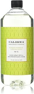 Caldrea Liquid Hand Soap Refill, Ginger Pomelo, 32 Ounce