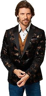 Joe Browns Mens Metallic Gold Floral Christmas Party Blazer