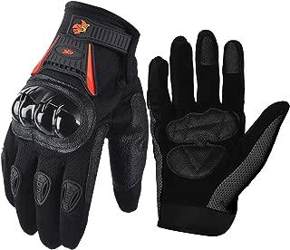 Street Bike Full Finger Motorcycle Racing Gloves 09 (Large, black/red)