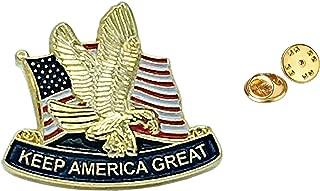 UNiQ Designs Donald Trump Man Lapel Pin-Keep America Great MAGA Pin-Perfect American Flag Lapel Pin-USA Pin American Flag Pin for Suit-Donald Trump Pins and Buttons 2020-Maga Lapel Pin-Trump 2020 Pin