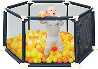 SXXDERTY-playard Baby Ball Pit Tent Playpen Foldable Toddler Play Yard with Door and Breathable Mesh Kid s Safety Activity Center  Portable Travel Fence for Indoor Outdoor 59 quot  70 8 quot
