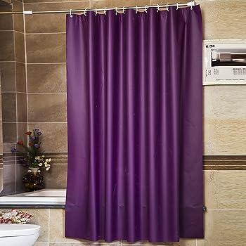 Amazon Com Riverbyland Purple Waterproof Shower Curtains 72 X 80
