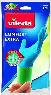 Vileda Comfort i Care gumowe rękawice z balsamem rumiankowym rozmiar L, 1 para