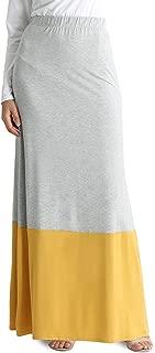 Womens Long Maxi Skirt Reg and Plus Size High Waisted Flowy Maxi Skirt - USA
