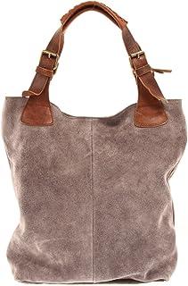 2a24081f728afd LECONI Henkeltasche Echt-Leder Wildleder Damentasche Handtasche für Damen  Shopper für Freizeit, Büro oder