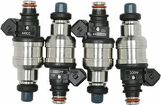 Fuel Injectors High Impedance 440cc Fuel Injectors Fit for Honda Acura Civic Integra B16 B18 B20 D16 D18 F22 H22 H22A VTEC w/clips
