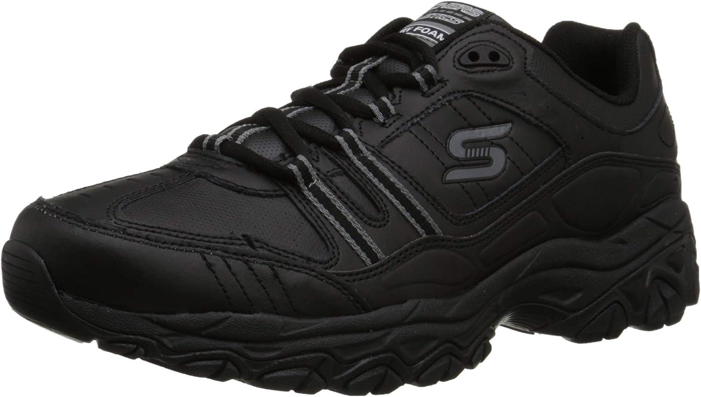 Skechers Sport Hommes's Afterburn Memory Foam Strike on Training chaussures, noir, 13 M US