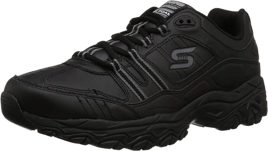 Skechers Sport Hommes's Afterburn Memory Foam Strike on Training chaussures, noir, 11.5 M US