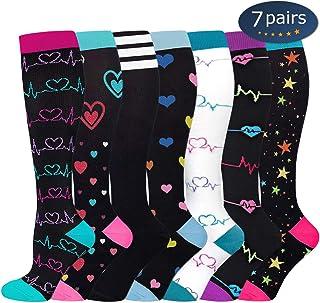 Compression Socks,15-20 mmHg Best Graduated Athletic Socks for Women & Men