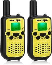 WES TAYIN Walkie Talkies for Kids, 5 Miles Long Range Walkie Talkies, VOX Hands-Free&Crystal Sound Kids Walkie Talkies,Two Way Radios Kids Best Toys Gifts, Set of 2 (Yellow)