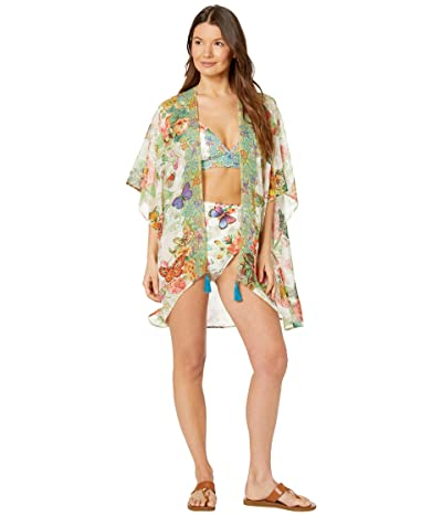 Johnny Was Holly Short Kimono Cover-Up (Multi) Women