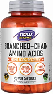 NOW Sports Nutrition, Branched Chain Amino Acids, With Leucine, Isoleucine and Valine, 120 Capsules