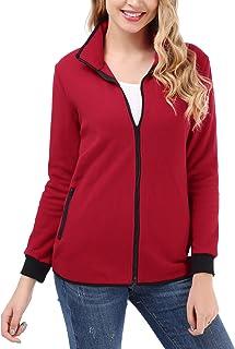 Uniboutique Women's Full-Zip Fleece Jacket Collar Soft Thermal Coat