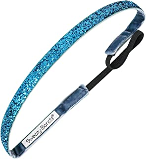 Sweaty Bands 001-38-0049-11 Viva Diva 3/8-inch Velvet Lined Fitness and Fashion Headband Turquoise