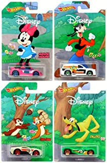Hot Wheels Disney 90th Anniversary Mickey Mouse 4-Pack Set