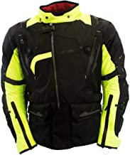 Oxford Montreal 2.0 Men's Black/Fluorescent Yellow Textile Jacket - 2X-Large