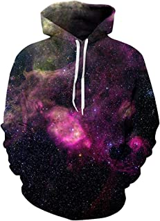 Unisex 3D Novelty Hoodies Graphic Funny Christmas Galaxy Hoodies Pullover Sweatshirt Pockets