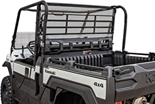 SuperATV Heavy Duty Light Tinted Rear Windshield for Kawasaki Mule Pro FX/DX (2016+) - 250x Stronger Than Glass!
