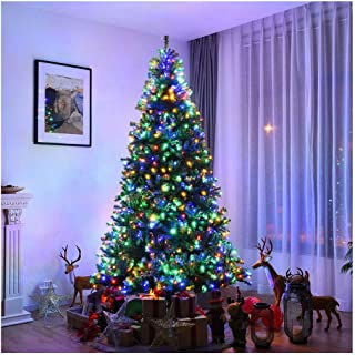 Lonestar Wholesaler 8Ft Pre-Lit Artificial Christmas Tree Pre-Lighted Premium Hinged w/ 750 LED Lights & Stand