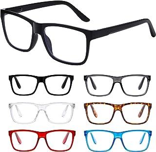 Reading Glasses Blue Light Blocking glasses women/men-6Pack Computer glasses Reading Anti Glare Filter Square