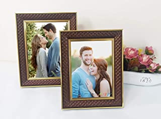 Art Street Synthetic Wood Wall & Table Photo Frame (Gold)