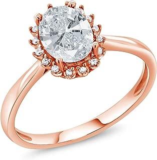 10K Rose Gold Fashion Right-Hand Ring Set with White Zirconia from Swarovski