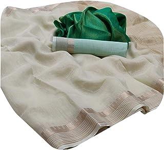 ساري رسمي ناعم ناعم من القطن الحريري مع بلوزتين مزدوجة لملابس المكتب ساري 5903
