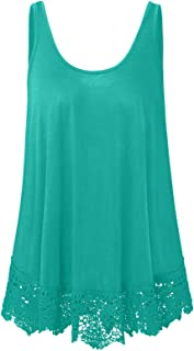 Plus Size Swing Lace Flowy Tank Top for Women