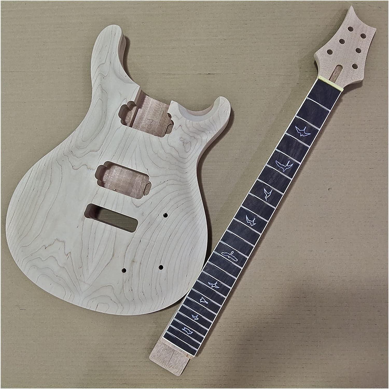 Cuerpo Guitarra 1 Juego De Cuello Y Cuerpo De Guitarra Sin Terminar, Kit De Guitarra Eléctrica Estilo PRS, Parte De Bricolaje, 24,75 Pulgadas Kits Guitarra Bricolaje
