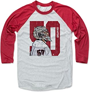 500 LEVEL Corey Crawford Shirt - Vintage Chicago Hockey Raglan Tee - Corey Crawford Sketch 50