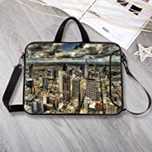 "Urban Portable Neoprene Laptop Bag,Melbourne Cityscape Modern Australia Architecture Buildings Metropolis Dramatic Sky Laptop Bag for Travel Office School,8.7""L x 11""W x 0.8""H"
