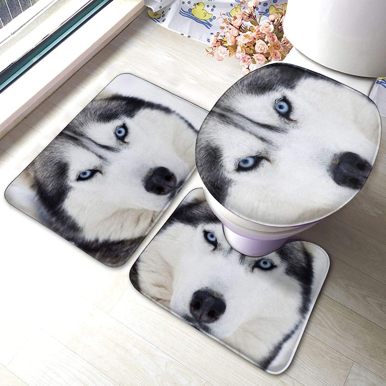 Huskies 2 Bathroom Japan's largest assortment Antiskid Set 3 Sho Piece latest Pads Bath