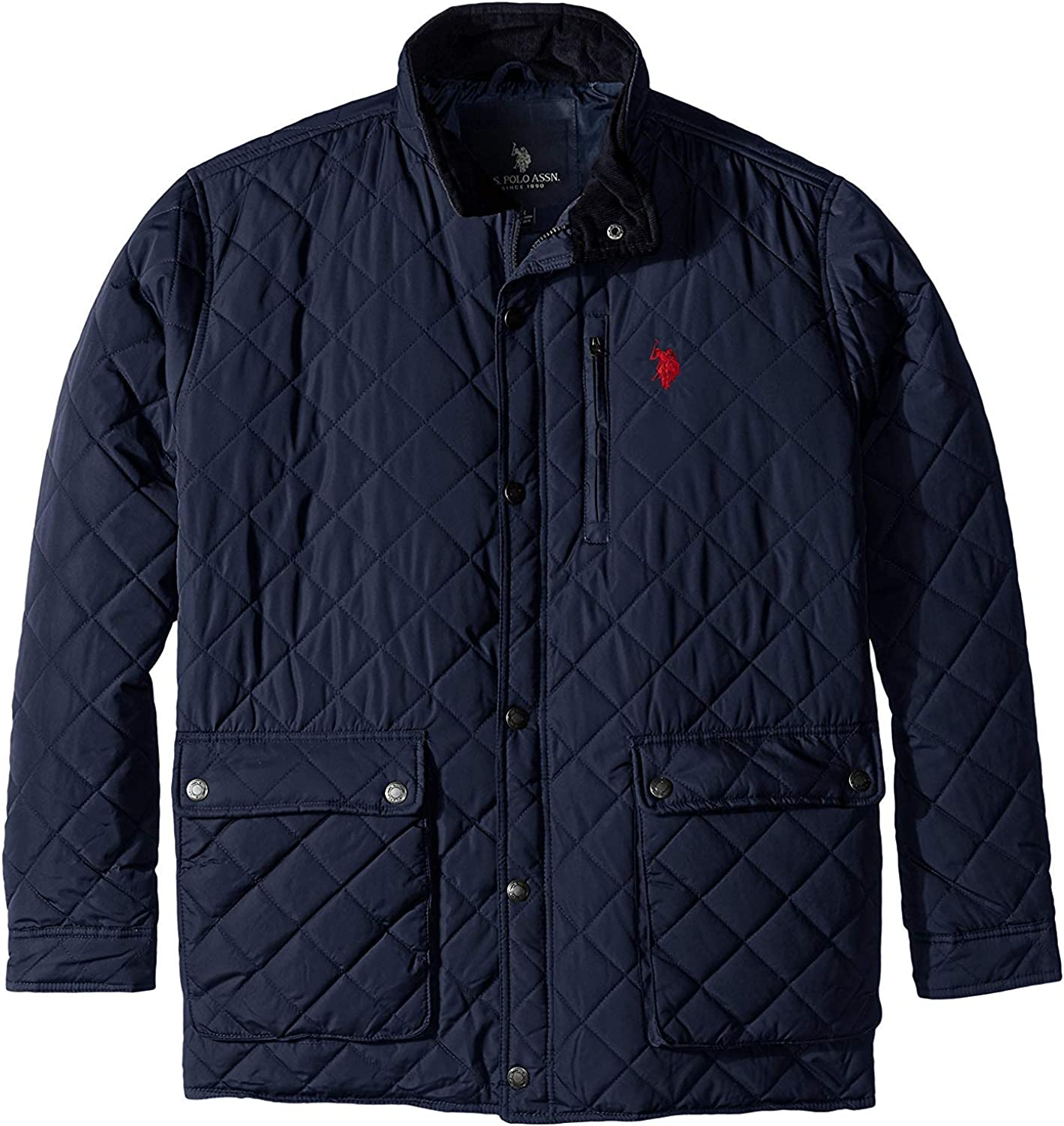 U.S. Polo Assn. mens Diamond-quilted Jacket