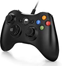 Controller for Xbox 360, Wired Gamepad Joystick Controller for Xbox 360 &PC Games Windows (10/8.1/8/7) with Dual-Vibration...