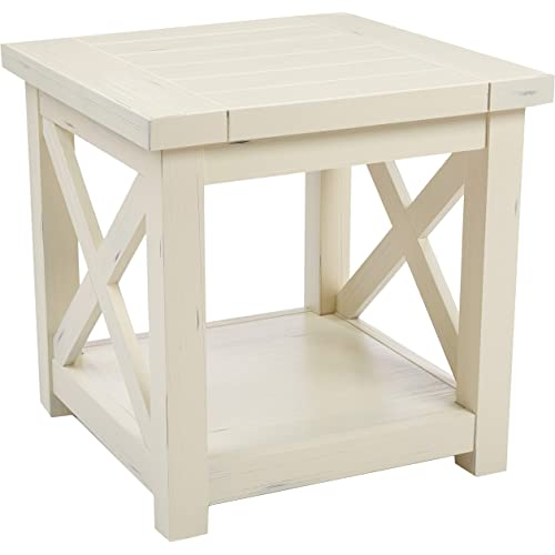 Seaside Lodge White End Table By Home Styles Furniture Decor