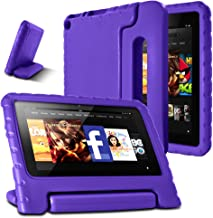 AFUNTA Fire 7 2015 Case,Light Weight Shock Proof Convertible Handle Stand EVA Protective Kids Case for Amazon Fire 7 inch Display Tablet (5th Generation - 2015 Release Only)-Purple