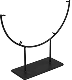 Milltown Merchants™ Round Metal Display Stand - Fused Glass Art Base - Plate Stand/Plate Holder - Round Art Panel Stand (1 Pack, 12